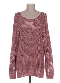 Pull col rond rose BEST MOUNTAIN pour femme