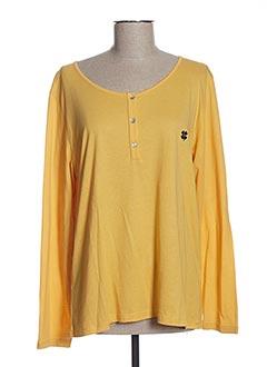 T-shirt manches longues jaune LE PETIT BAIGNEUR pour femme