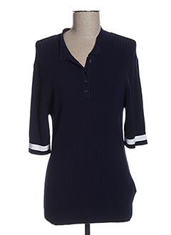 Polo manches longues bleu ESQUALO pour femme