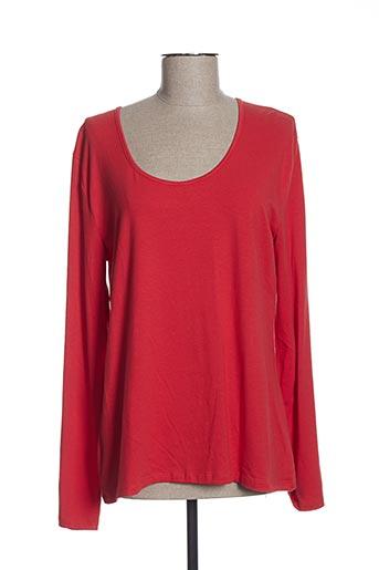 T-shirt manches longues rouge LE PETIT BAIGNEUR pour femme