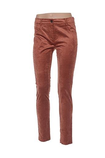 Pantalon casual marron CRISTINA GAVIOLI pour femme