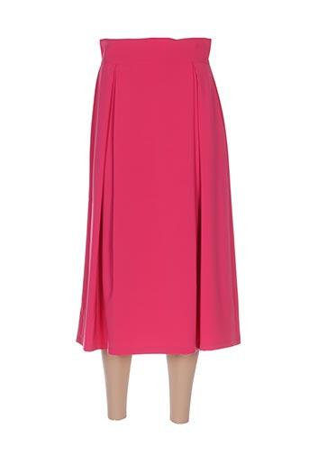 Jupe longue rose CRISTINA GAVIOLI pour femme