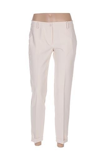Pantalon 7/8 beige CRISTINA GAVIOLI pour femme