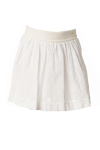 Jupe mi-longue blanc PETIT BATEAU pour fille