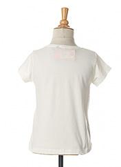 T-shirt manches courtes blanc 3 POMMES pour fille seconde vue
