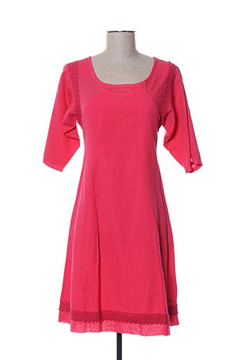 Robe mi-longue rose GOUBI pour femme