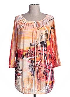 T-shirt manches longues orange ESPRIT DE LA MER pour femme