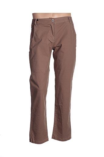 Pantalon casual marron ESPRIT DE LA MER pour femme