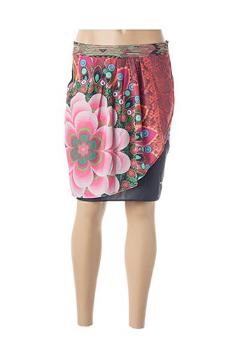Jupe mi-longue rose DESIGUAL pour femme