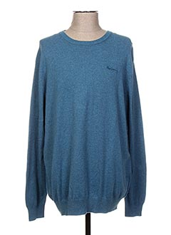 Pull col rond bleu PEPE JEANS pour homme