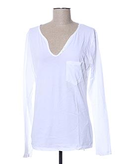 T-shirt manches longues blanc KAPORAL pour femme