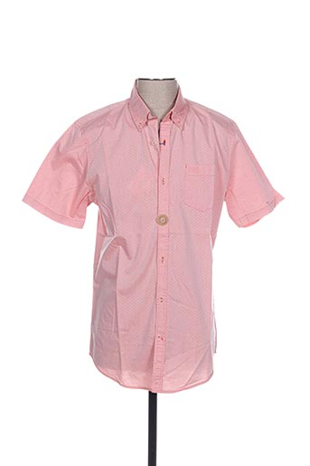 Chemise manches courtes rose MEN OF ALL NATION pour homme