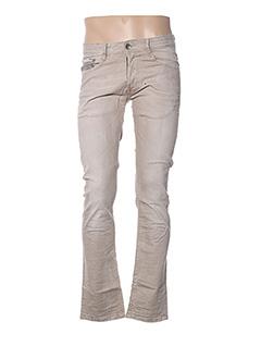Jeans coupe droite beige TEDDY SMITH pour homme