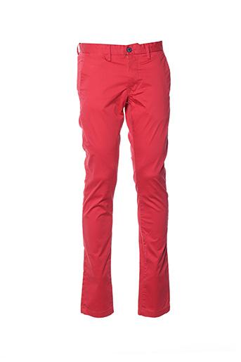 Pantalon casual rouge TEDDY SMITH pour homme