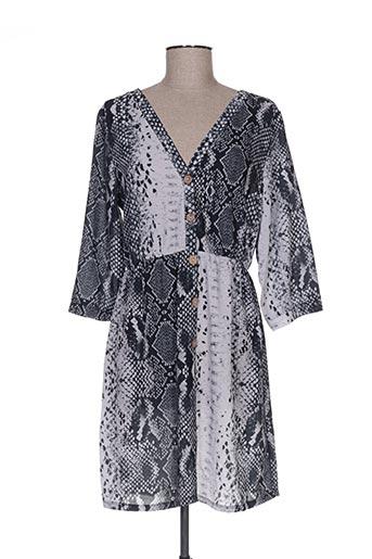 Robe mi-longue gris ANABELLE pour femme