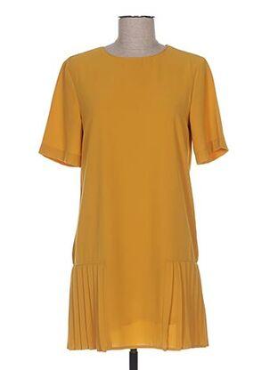 Robe courte jaune BISOU'S PROJECT pour femme