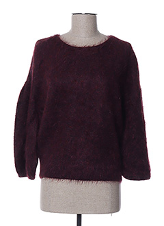 Pull col rond rouge PAUL KA pour femme