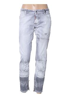 Jeans coupe slim gris DSQUARED pour femme