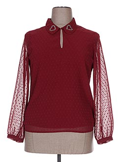 Blouse manches longues rouge I.CODE (By IKKS) pour femme