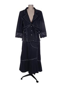 Veste/jupe bleu CHRISTINE LAURE pour femme