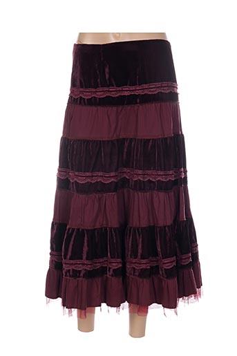 Jupe mi-longue rouge CHERRY pour femme
