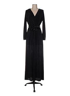 Robe longue noir DANIELA COOL pour femme