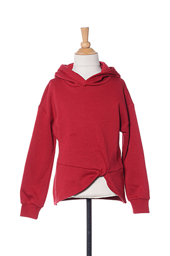 Sweat-shirt rouge ONLY pour fille