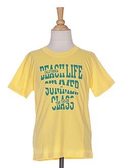 T-shirt manches courtes jaune TOM TAILOR pour garçon