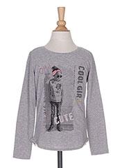 T-shirt manches longues gris TOM TAILOR pour fille seconde vue