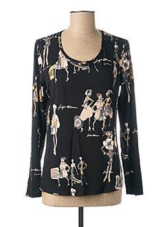 T-shirt manches longues noir FUEGO WOMAN pour femme