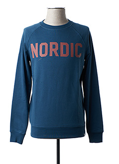 Sweat-shirt bleu MINIMUM pour homme