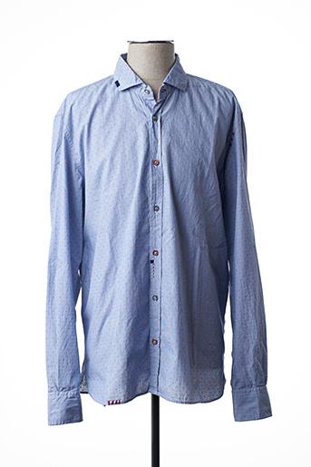 Chemise manches longues bleu BOB pour homme