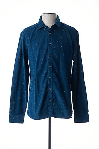 Chemise manches longues bleu NO EXCESS pour homme