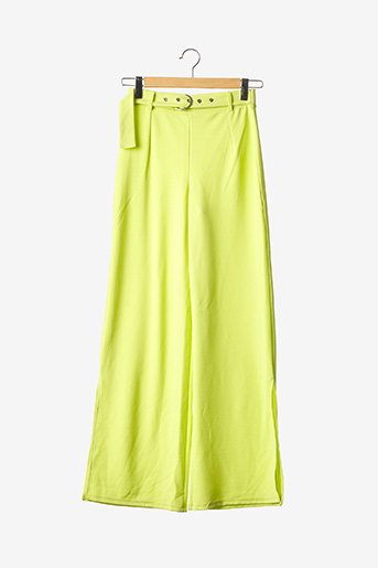 Pantalon casual jaune BERSHKA pour femme