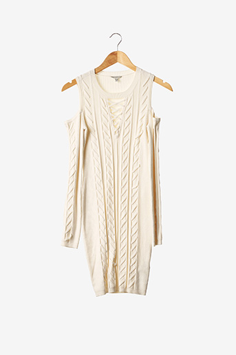 Robe mi-longue beige GUESS pour femme