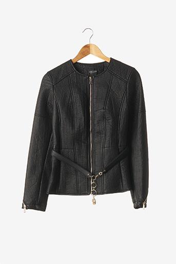 Veste simili cuir noir GUESS pour femme