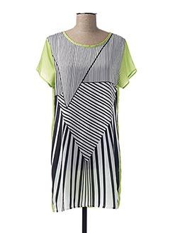 Robe mi-longue vert COQUELICOT pour femme