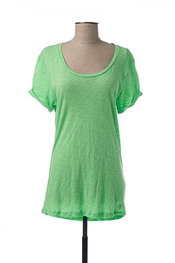 T-shirt manches courtes vert BENCH pour femme
