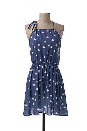 Robe mi-longue bleu COQUELICOT pour femme
