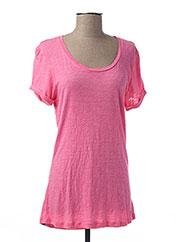 T-shirt manches courtes rose BENCH pour femme seconde vue