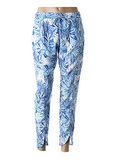 Pantalon casual bleu COQUELICOT pour femme