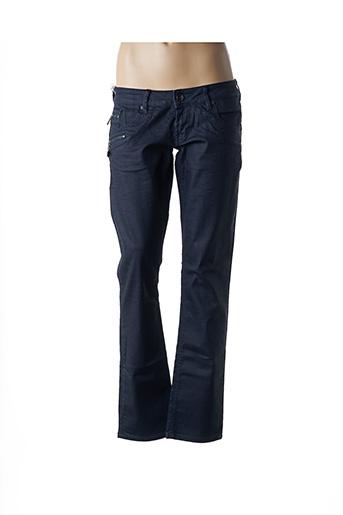 Jeans coupe droite bleu FREEMAN T.PORTER pour femme