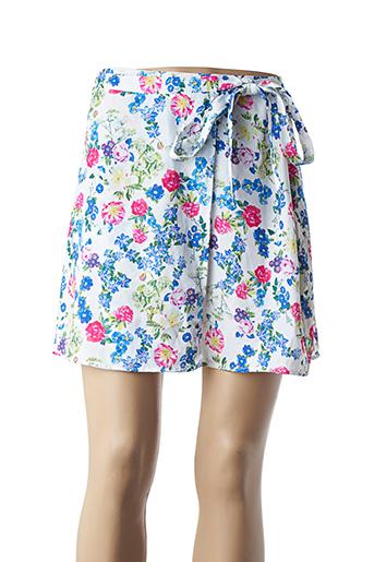 Jupe courte bleu COQUELICOT pour femme