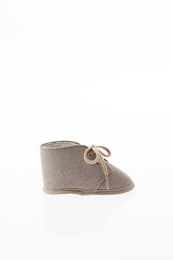 Chaussons/Pantoufles beige CHAUSS'COEUR pour enfant