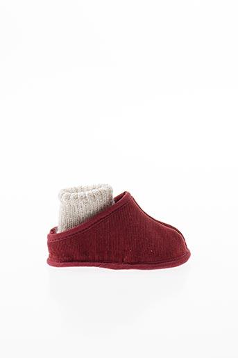 Chaussons/Pantoufles rouge CHAUSS'COEUR pour enfant