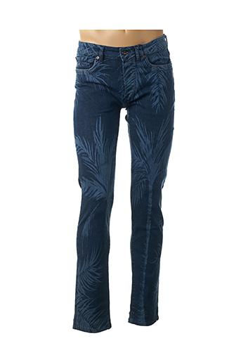 Jeans coupe slim bleu CARNET DE VOL pour homme