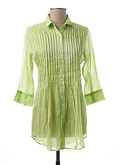 Chemisier manches longues vert GAIA BOLDETTI pour femme