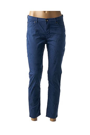 Pantalon 7/8 bleu MENSI COLLEZIONE pour femme