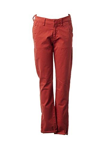 Pantalon casual orange REIKO pour femme