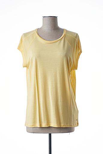 T-shirt manches courtes jaune TOMMY HILFIGER pour femme